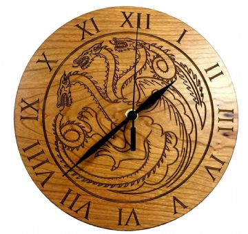 House Targaryen Cherry Clock